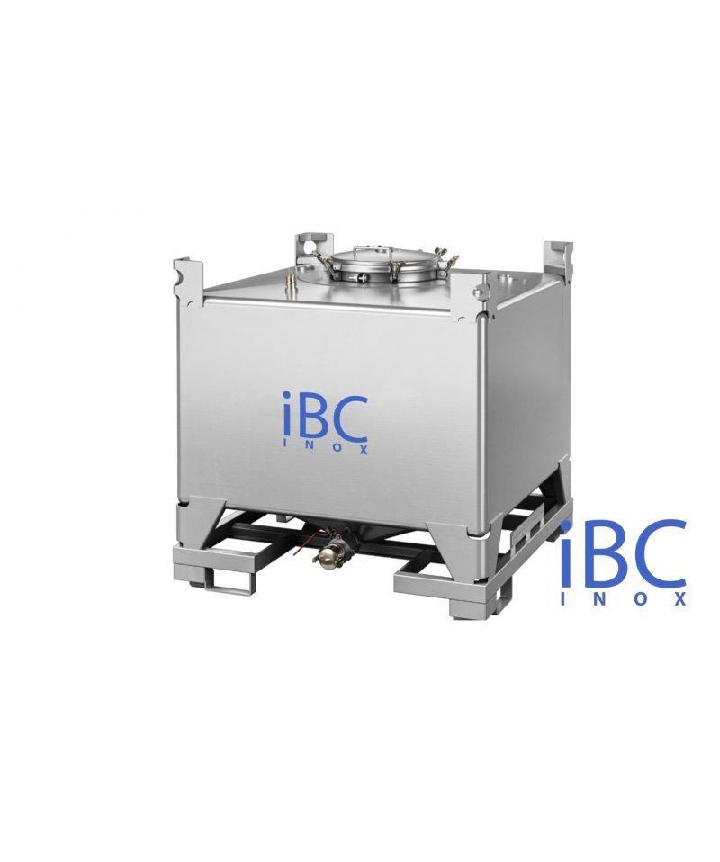 CONTAINER IBC INOX RECTANGULAR 1000 LITRI