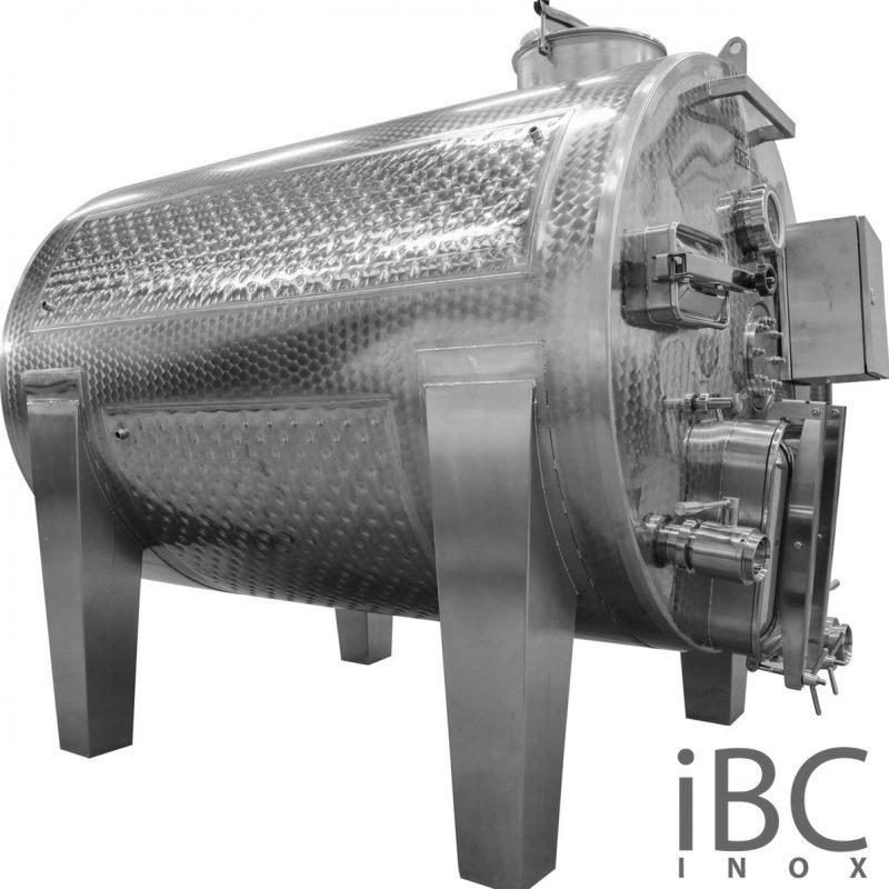 Rezervor orizontal tip vinificator volum 3000 - 5000 litri