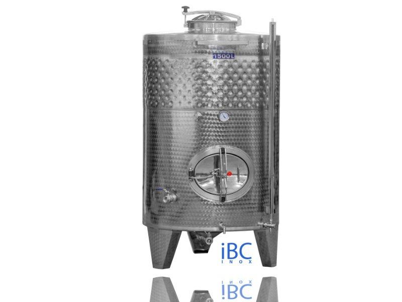 Rezervor din inox pentru fermentare, 1500 litri